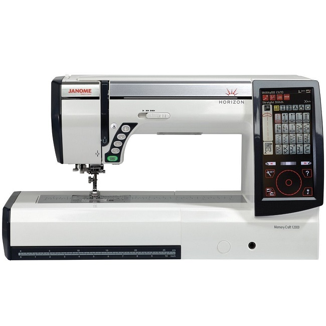 Janome Horizon Memory Craft 12000 Embroidery and Sewing Machine'